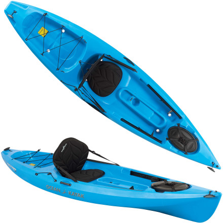 Kayak and Canoe Smaller paddlers can hop on the Ocean Kayak Tetra 10 Sit-On-Top Kayak and confidently paddle across calm lakes or ocean surf. Defined hull lines help this boat track straight so you can cover long distances efficiently, and those same hull lines give this boat rock-solid stability when the conditions turn rough and choppy. No matter what your experience level, you'll love the comfortable seating, ample gear storage, and maneuverable and easy-to-paddle feel of this sit-on-top. - $659.95