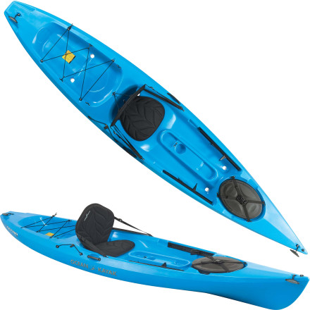 Kayak and Canoe Glide quickly and efficiently across long stretches of open water when you're at the helm of the Tetra 12 Sit-On-Top Kayak. Ocean Kayak borrowed the Tetra's sleek hull shape from touring kayaks, which are designed for long-haul paddling. Comfortable seating, an open cockpit, and easily-accessible bow storage make this boat particularly friendly to novice and intermediate paddlers who want to go a little further on the water. - $759.95