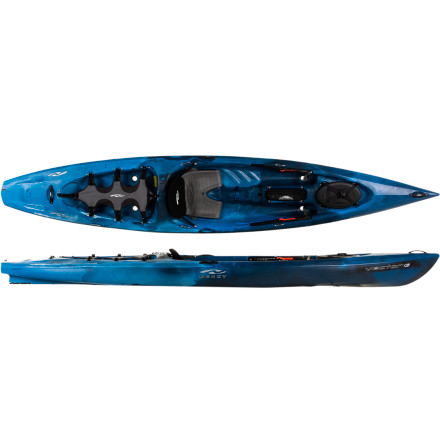 Kayak and Canoe Slide onto the Necky Kayaks Vector 13 Kayak and skirt along the coast or plan a longer paddle and hit an island for a little overnight camping. The streamlined hull allows this boat to paddle with the efficiency of a dedicated touring boat, and the open, sit-on-top cockpit design allows you to move with freedom and confidence. You get stability, storage for a night and a day worth of gear, and a boat you can take everywhere from the local lake to the ocean. - $999.99