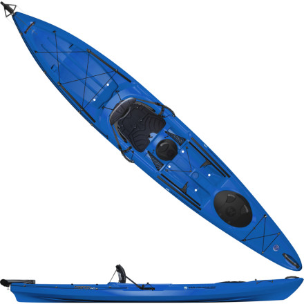 Kayak and Canoe The Wilderness Systems Tarpon 140 Sit-On-Top Kayak is blessed with a comfortable seat, a rudder, and the ability to carry oversized, heavy items (such as a cooler, camping, and cooking gear) in the large stern tankwell. Whether youre on a fishing trip or extended adventure, the Tarpon 140 sit-on-top offers stability and comfort you can count on. - $959.16