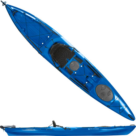 Kayak and Canoe When the wind blows and the water turns rough, a drop-down rudder gives you extra directional control over the Wilderness Systems Tarpon 140 Sit-On-Top Kayak. This light touring kayak was engineered for fast, efficient movement and extended gear capacity. Boaters of all levels can slide into the comfortable Phase 3 seating, dip a paddle in the water, and confidently explore the local pond or lake. - $1,219.00