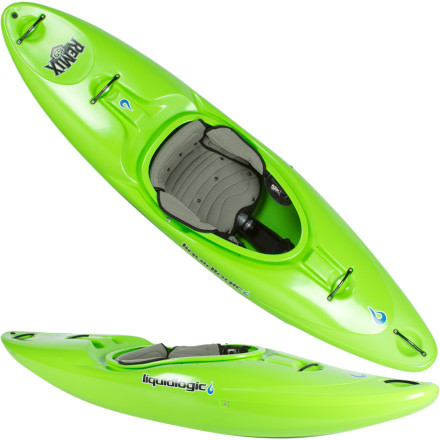 Kayak and Canoe Liquid Logic shaped the Remix 59 Kayak for smaller, adult paddlers who fiend for technical waters. Point this boat at something scary and you might scream like a little girl at first, but once the Remix hooks up, you'll never look back again. Speed, stability and turn-on-a-dime maneuverability are points of pride for the Remix. Greenhorn river goers will find confidence in its comfort and predictability and experienced paddlers will wield it as a tool to test their limits. The Remix stays on top in the drops, carves like a hot knife through butter and delivers you home safe and sound, and what more can you ask for' - $1,098.95