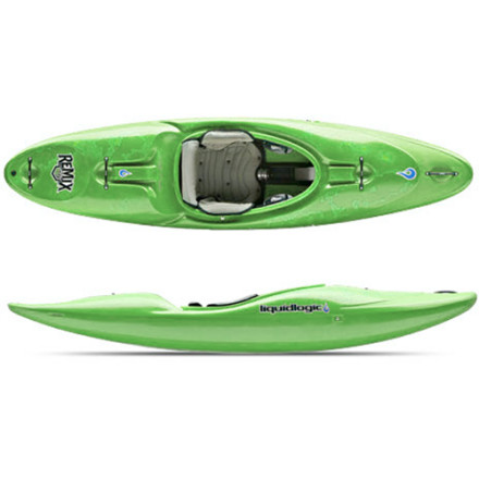 Kayak and Canoe Pump the Liquidlogic Remix 79 Kayak through big-volume rivers or float through technical creeks. This boat was shaped with the help of instructors and dedicated river rats who know a thing or two about paddling. Extra width at the ends adds the volume needed to stay on the surface through washy drops and updated, modern chine edges cut through the water like a hot knife through butter. Experienced paddlers and eager learners alike will find the Bad Ass Outfitting easy-as-pie to fit and comfy on the butt after a long day getting drenched. - $1,098.95