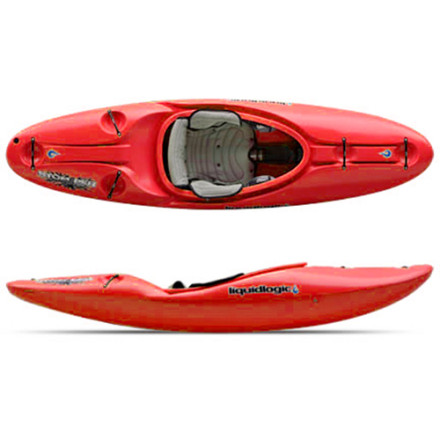 Kayak and Canoe Don't be alarmed if you hear a whining noise coming from your gear closet, it's just the Liquid Logic Stomper 80 Kayak eager to get into fast-moving water with gut-wrenching drops. With the toughness and security of a river-runner and the boofability of a whitewater rig, this boat crushes the creek. Experienced boaters will find that the Stomper 80 Kayak is lightning fast and predictable in the wash, and it flicks through turns with a moment's notice. It's amazing what a little rocker, a semi-planing hull, and an outstanding pedigree can do for a boat, isn't it' - $1,098.95