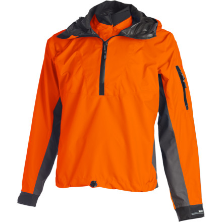 Kayak and Canoe Whether you're out in a storm or blessed with clear skies on a frigid day, you need a protective layer that will keep you dry and that won't clam up on the inside. The ultra-lightweight, packable, and highly breathable Kokatat Gore-Tex Pullover Jacket is just the thing. - $248.95