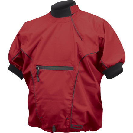 Kayak and Canoe Reach for the Stohlquist Men's Torrent Spray Short-Sleeve Jacket and give your guns some room to breathe while you paddle in moderately warm weather. Fully waterproof breathable two-layer fabric helps to keep you dry and comfortable all day when you're digging deep and working up a sweat. - $119.95
