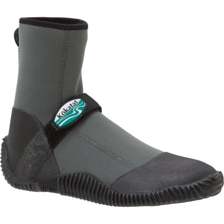 Kayak and Canoe With a single hook-and-loop strap closure and an aggressive outer tread on the vulcanized rubber sole, the Kokatat Scout High Top Neoprene Shoe provides protection in and out of the boat. Its high ankle eliminates the possibility of a gap between the boot and pant cuff while the glued and blindstitched construction of the double-lined neoprene ensures a long life and no excessive rubbing. - $53.95