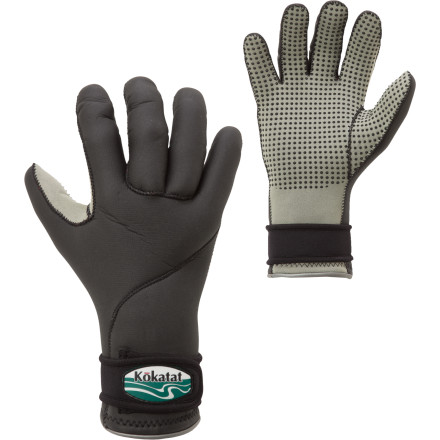 Kayak and Canoe Paddle your whitewater rig through chilly, shoulder-season waters with your hands protected by the Kokatat Neoprene Medium-Weight Hand Jackets. Adjustable wrist closures lock out water while flexible neoprene fends off the chill without inhibiting your dexterity. Reach for these midweight gloves in early spring or late fall. - $45.95