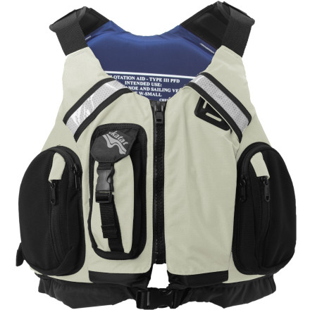 Kayak and Canoe On top, the Kokatat Women's MsFit Tour Personal Flotation Device rocks a higher-volume fit which is suitable for women (and which works for guys with muscly pecs as well). Rather than sticking a chunk of foam right where you need to flex, this PFD has articulated shell and foam panels which complement the highly adjustable, flexible fit. An array of small pockets gives you the storage you need for vital safety gear, and the design is USCG, Transport Canada, and CE approved so you're up to spec in the States and abroad. - $148.95