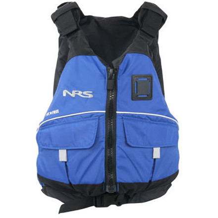 Kayak and Canoe The NRS Vista Personal Flotation Device includes large pockets and excellent flotation for a safe river trip and comes at a low cost that leaves you money for the shuttle. Plus this PFD is PVC-free. The type III flotation keeps your head above water if you take an unexpected swim and have to run a rapid sans boat (watch out for the rocks). NRS included two large cargo pockets to hold your flip line, snacks, and sunscreen. Seven adjustment points ensure a comfortable, secure fit. - $84.95