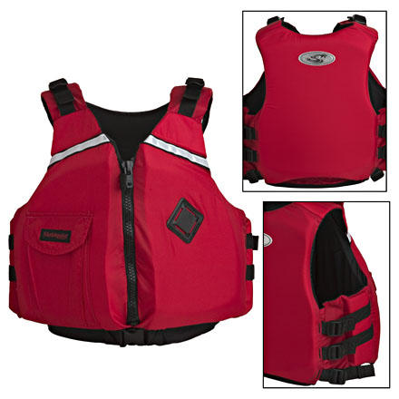 Kayak and Canoe The Stohlquist eSCAPE Women's Personal Flotation Device combines a clean, functional profile with a women's-specific cut to make your day on the water more comfortable. The chest area of the Women's eSCAPE is carved out, offering support and reducing the too-tight feeling unisex PFDs. Ideal for flat-water paddling and rafting, this Stohlquist Personal Flotation Device includes a chest pocket for your sun screen or glasses and padded adjustable shoulder straps to assure all-day comfort. - $59.90