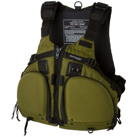 Kayak and Canoe It doesn't take a lot of guesses to find what Stohlquist designed the FISHERMAN Personal Flotation Device for. They gave this comfy PFD angler-specific features to help you land a big one. Two large front zip pockets hold your tackle and other necessities. The FISHERMAN Personal Flotation Device also includes four elastic holders to keep items like needle nosed pliers within easy reach. Stohlquist beefed up this flat-water PFD with 16lb 12oz of flotation to keep you well above the water line if your fish pulls at just the wrong moment and catches you instead of the other way around. - $124.90