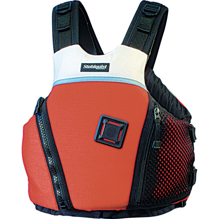 Kayak and Canoe The Stohlquist WEDGE-E Personal Flotation Device's low-profile design allows full freedom of movement when you need it for a class-V rapid. This PFD pack 16lb 14oz of flotation to make your swim a little less scary if you should happen to end up in the drink. A front zippered pocket holds essentials like sun screen and a flip line. A four-way tab holds a knife or whistle. The Stohlquist WEDGE-E Personal Flotation Device has become a favorite of whitewater kayakers and rafters who want easy movement without giving up too much flotation. - $89.90