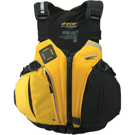 Kayak and Canoe Whether you plan to take your kid kayaking, stand-up paddle-boarding, or sailing, make sure he or she has on the Stohlquist Youth Drifter Personal  Floatation Device. Thanks to its cross-chest harness design, the Drifter eliminates ride-up and keeps the vest lower on the torso for more effective buoyancy. - $89.90