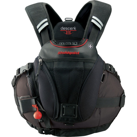 Kayak and Canoe Paddlers who need top-grade performancefrom serious river rats to professional first responderschoose the Stohlquist Descent Personal Flotation Device. This PFD works for Type V strong swimmers and uses its excellent fit and performance to aid you in high-pressure situations. Rescue-compatible with a quick-release belt and tow tether, the Descent excels when you're pushing your limits. - $224.90