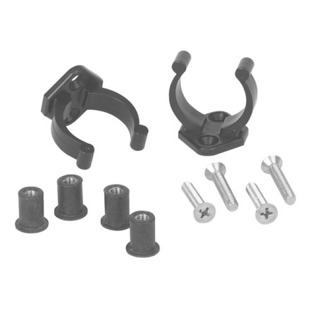 Kayak and Canoe Free up your hands so you can fish, eat, or read with the Harmony Paddle Clip Kit. Paddle kit includes 2 clips, 4 bolts, and 4 inserts to hold your spare or primary paddle safely and securely. - $9.95