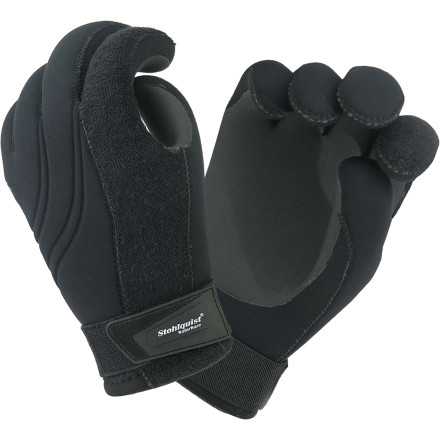 Kayak and Canoe Barely mobile fingers aren't going to do you any good on the river, so equip yourself with the Stohlquist Maw 3mm 4-Way Stretch Gloves. - $39.90