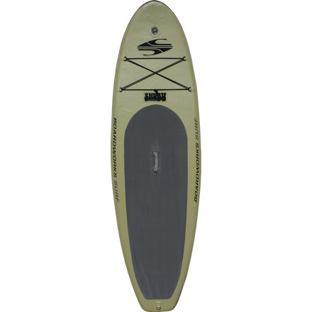 Kayak and Canoe You don't have to be an expert, you don't need a large storage space, and you don't even need a car to enjoy stand-up paddleboarding if you have the Boardworks SHUBU Inflatable Paddle Board. The all-inclusive, carry-on-your-back, inflate-in-minutes, easy-to-steer, and durable SHUBU is everything you need to get into stand-up paddling, transition to streams and rivers, or do on-water yoga in your backyard pool. Just show up and blow it up; it's that easy, and it's what SHUBU stands for. - $861.86
