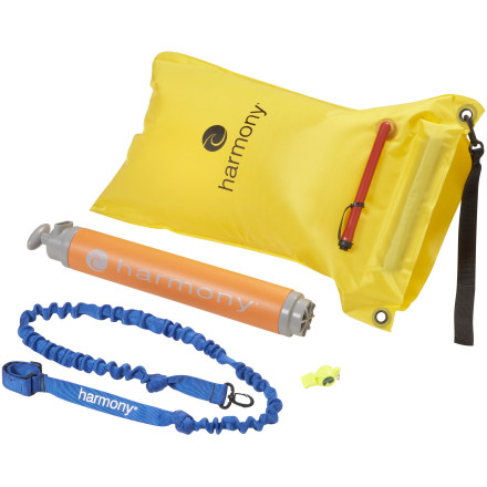 Kayak and Canoe Make sure you are prepared for your next boating expedition or day trip with the Harmony Safety Kit. If you should capsize your boat, keep your paddle nearby with the paddle leash, inflate the Blade Aide paddle float, get yourself back in the boat, paddle to shore, use your high volume bilge pump to clear out the hold, and blow your Fox 40 safety whistle for joy at having just rescued yourself. - $94.95