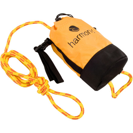 Kayak and Canoe Before you head out for a day on the class III river, check to make sure you've packed the Harmony 50 Foot Rescue Throw Bag in your arsenal of safety gear. The brightly-colored Cordura nylon bag features a quick-detach loop to secure it to your boat, as well as a mesh panel to allow water to drain should you need to throw a line to someone in your crew that's taking an unplanned swim. - $49.95