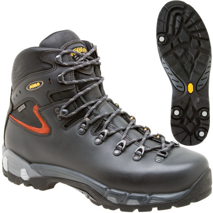 Camp and Hike The Asolo Men's Power Matic 200 GV Backpacking Boot has a waterproof Gore-Tex lining and fatigue-reducing technology to keep you moving for your hardcore winter hikes. The Power Matic sole's front density gives you maximum support, and a heel density that reduces shock and fatigue. Cylinders throughout the outsole and midsole absorb jarring from your steps, so you can take on the trail and have more energy for the long haul. The waterproof Gore-Tex lining protects your feet from those soggy spring days, and provides high breathability for the long haul. A wide fit gives your feet more comfort without sacrificing supportless squashed toes and more stability. - $269.96