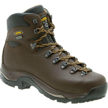 Camp and Hike Serious backpacking trips call for serious footwear. Luckily for you, the Asolo Men's TPS 520 GV Backpacking Boot takes on long distances and heavy loads with ease. If the weather turns nasty, you can count on the waterproof breathable Gore-Tex insert to keep your foot dry every step of the way. Asolo used a durable full-grain leather upper to ensure maximum durability. The TPS 520 GV Backpacking Boot also comes with a top-of-the-line Vibram sole for excellent traction on any type of terrain you encounter. - $245.61