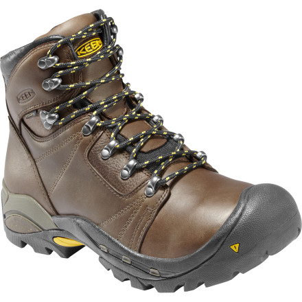 Camp and Hike KEEN Men's Erickson PCT Backpacking Boot provides all the stability you need for everything but the nastiest backpacking trips. A full waterproof upper, shock-absorbing EVA midsole, and full-length torsion plate combine to provide a boatload of comfort, stability, and protection. - $189.95