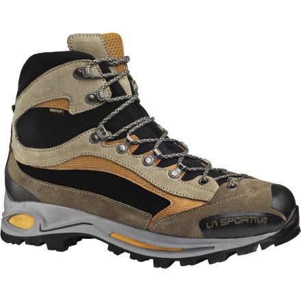 Camp and Hike With the protection to prevent rolled ankles and wet toes, the La Sportiva Delta GTX Backpacking Boot enables comfortable trekking and fast-packing without the weight of a bulky leather boot. With a contoured midsole, 3D Flex ankle, and a Gore-Tex membrane to keep the rain out, you can trek for weeks comfortably with this lightweight boot securing your wandering steps. - $223.96