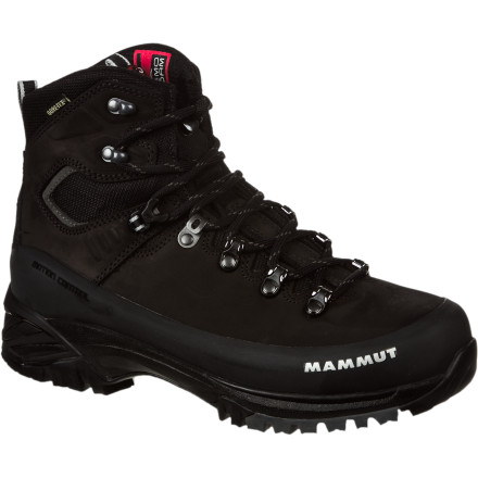 Camp and Hike Mammut's Appalachian GTX Backpacking Boot caters to the all-seasons' hiker who's most at home with a full pack and a clear trail ahead. Lace up this adventure-oriented footwear, and make for the treeline. And don't stash the aptly named Appalachian in your closet after your thru-hike; keep it handy for winter adventures that require crampons and ice gear. - $220.11