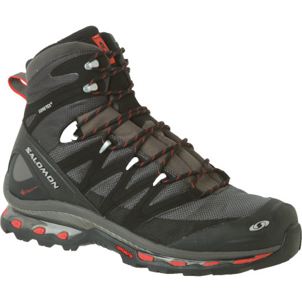 Camp and Hike You know that weird vertigo you experience when you think there's one more stair, but there isn't' You'll experience that same feeling when you take your first step in the Salomon Cosmic 4D GTX Backpacking Boot. This burly waterproof boot offers all the support and stability of a traditional backpacker, but feels as light and nimble as a trail runner. - $274.95