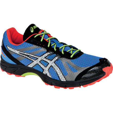 Fitness Debuting as the lightest shoe in the Asics trail running line, the Men's GEL-FujiRacer Trail Running Shoes was made to go fast. Weighing in at under nine ounces, it offers superior fit and breathability in the upper, along with stability, cushioning, and a trail-ready outsole. - $109.95