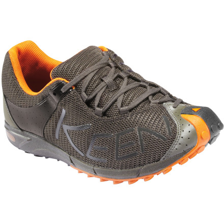 Fitness Abuse gravity when you sprint down the mountain with the KEEN A86 TR Shoe. Its low-profile, breathable mesh upper works with you as you stride through long trails on hot days, and its moisture-wicking textile lining keeps the sweaty foot-funk and blisters away all summer. - $58.49