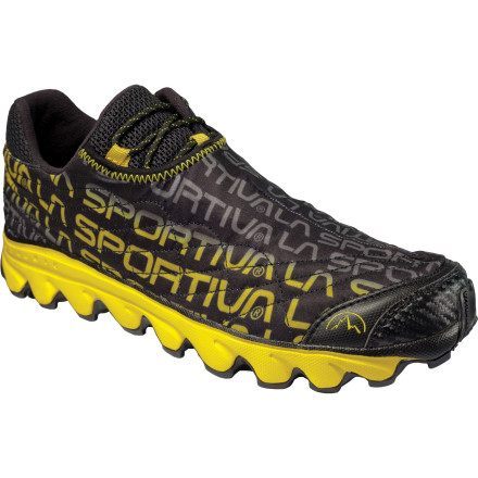 Fitness Give your feet wings, and sprint up the trail in the La Sportiva Men's Vertical K Trail Running Shoes. This shoe owes its incredibly light weight (7 ounces per shoe) to a minimalist one-piece upper and the soft, lightweight foam in the MorphoDynamic midsole that absorbs the punishment from rough terrain without bogging you down with more shoe than you need. - $91.96