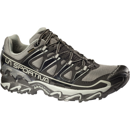 Fitness Sink your talons into the La Sportiva Men's Raptor GTX Trail Running Shoe before your next wet-weather trail run. This lightweight, stable neutral trail-running shoe features a Gore-Tex insert for comfort on wet, muddy trails, while the technical sole flies over the toughest terrain. - $123.96