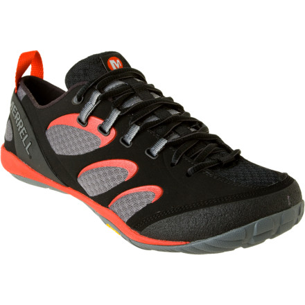 Fitness The Mens True Glove Shoe is a multipurpose shoe from Merrell's Barefoot Collection. This shoe's close fit, light internal support, and minimalist design mean your foot moves more naturally on hikes and approaches. That, in turn, helps strengthen your body from your feet up. - $54.98