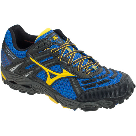 Fitness Rough trails require extra protection and support, which the Mizuno Men's Wave Cabrakan 3 Trail Running Shoe delivers in abundance. The water-resistant AirMesh upper and full-length Wave plate protect your foot from sticks and stones, and the Mizuno Wave technology offers a smooth, supportive ride. - $90.96