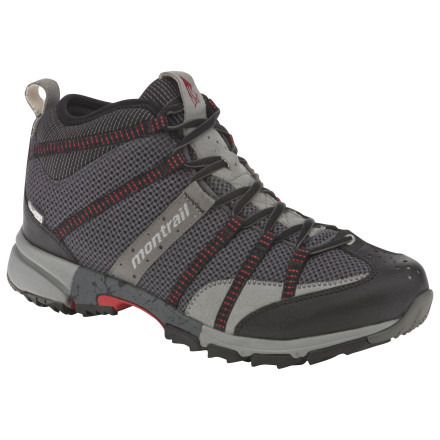 Camp and Hike We know you're all badarse, but instead of running barefoot on the trail, put on a pair of the Montrail Men's Mountain Masochist Mid OutDry Shoes. You punish your body enough running up the mountain, so give your feet a break. - $83.97