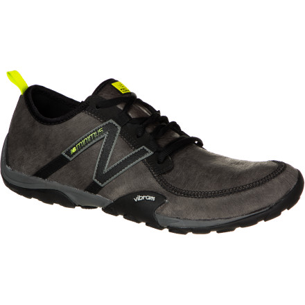 Fitness Get close to the ground, and feel the earth beneath your feet in the super-sensitive New Balance Men's MT10 Minimus Leather Trail Running Shoe, a minimalist trail runner that gives you the bare yet bomber essentials. A leather upper and Vibram sole protect your foot from the top and bottom and gives good grip to whatever trail you fancy. - $71.97