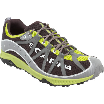 Fitness Lighter steps make for longer, more energized runs along mountain loops; that's why the Scarpa Spark Shoe toes the fine line between a minimalist and traditional running shoe. With enough padding to cushion your rocky strides, this trail shoe provides an excellent introduction to the minimalist movement, all the while using more eco-friendly materials in its construction. - $118.95