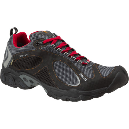 Fitness Built with a Gore-Tex membrane and an ultra-tacky IceLock HyperGrip outsole, the Treksta Evolution GTX Trail Running Shoe was built to devour messy trails during winter and shoulder-season months. - $97.47