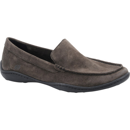 Entertainment A trip down to the corner store would be much more comfortable with the Men's Harmon Shoe. This slip-on shoe from Born Shoes has the classy look of a dress shoe and the comfort of a shoe made for places like your boat or the beach. Treat your foot to something a little extra-special. - $65.97