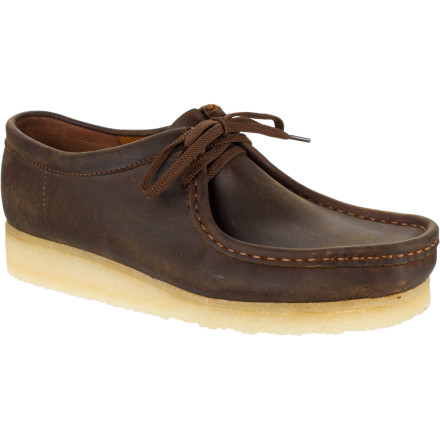 You may covet the Clark's Men's Wallabee Shoe for its classic style, but you'll keep it in your closet for its unbeatable comfort. The super-flexible, all-natural crepe rubber sole cushions your feet like nobody's business. - $123.96