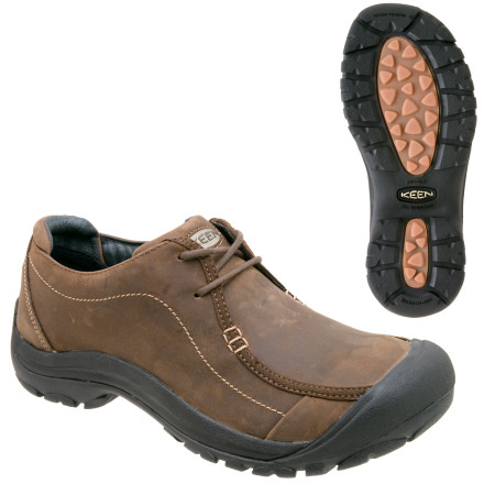 The Keen Men's Portsmouth Shoes keep your feet stay sweat-free in class, and they'll look better than your grungy classmates' sneakers. The leather and moisture-wicking synthetic lining keeps your foot from soaking in sweat. The Portsmouth shoes also have a waterproof leather upper to protect your dogs on rainy days. Keen gave these casual shoes a wallabee lace design that gives them a unique look. - $99.95