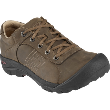 Sometimes navigating urban obstacles around campus or the office can be just as treacherous as a backcountry approach. The KEEN Finlay Shoes combine outdoor tech (water-resistant uppers, a wicking liner, aggressive soles, and a toe protector) with street-savvy style to keep your feet feeling good as you travel the city's backcountry. - $109.95