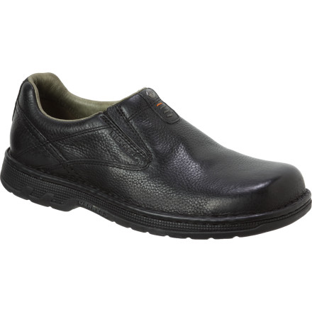 Take the famous Merrel comfort with you everywhere you roam when you're wearing the Men's World Legend Shoe. Offering slipper-like comfort, solid support, and secure traction, the slip-on World Legend tackles any city streets with sophisticated style. - $99.95