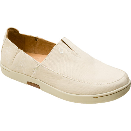 Slip into the Olukai Men's Kama'aina Shoe before you set sail. You've got a new lady to impress and you definitely need to hid those bashed up yellow toenails. A smooth looking cotton-twill upper and weather-resistant outsole gives the Kama'aina a fresh look. Its nonmarking outsole won't scuff up the sailboat, and thanks to its comfortable footbed you have no problem standing on your feet for a few hours. - $60.00