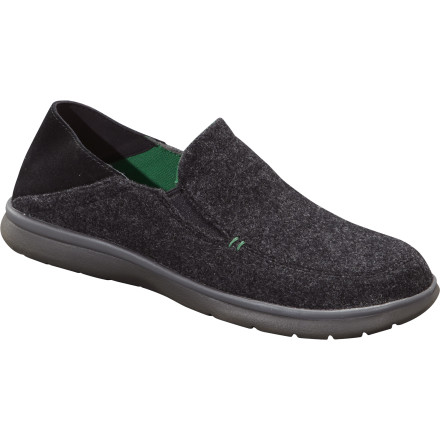 Soft enough to be a bedroom slipper, stylish enough to draw a crowd in a board meeting, the Patagonia Maui Woolzy Fold Shoe might just be the perfect shoe. The mono-tweed wool upper is soft and warm, and the heel folds down to convert from shoe to slide on the go. - $57.00
