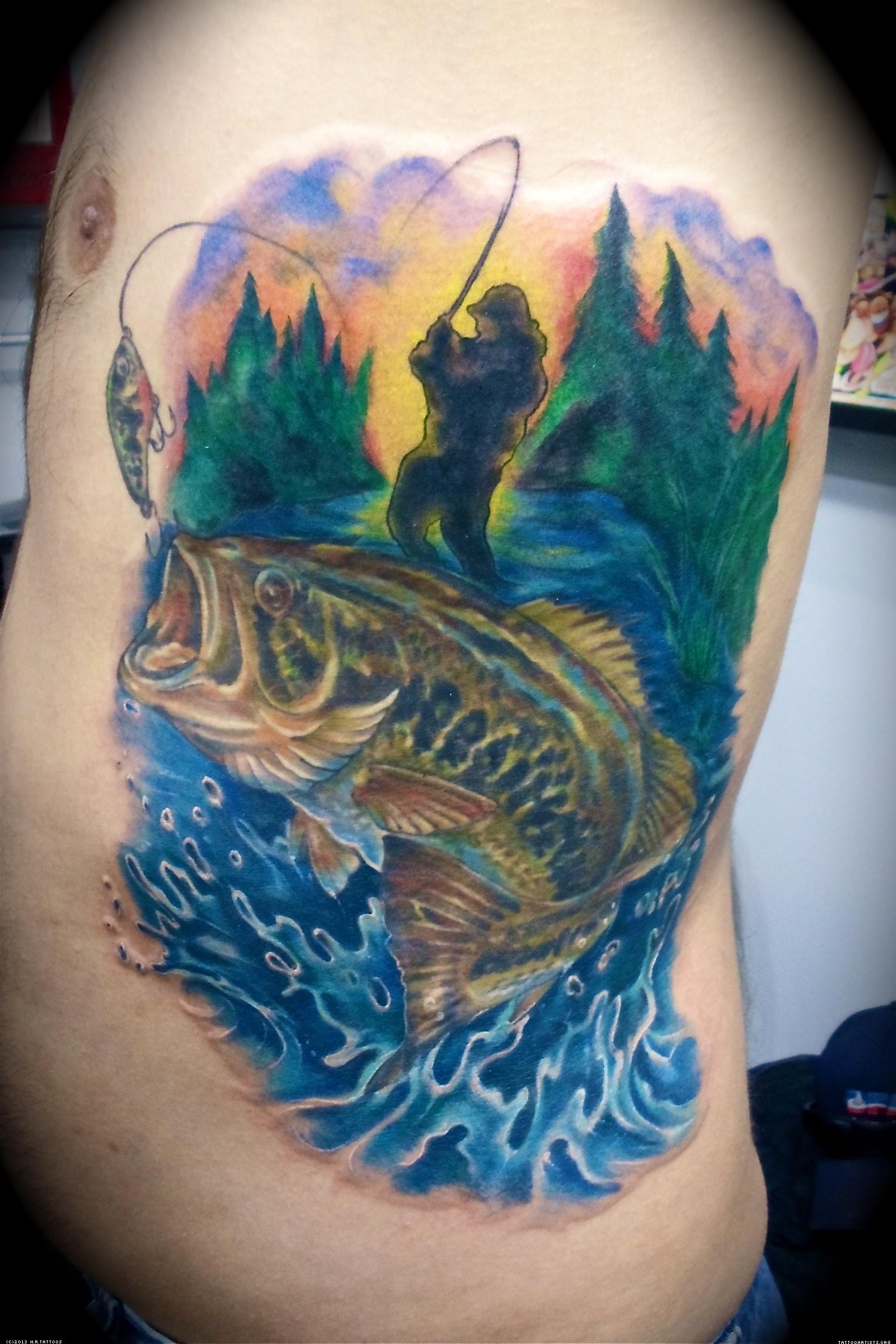 Badass Fishing Tattoo  Thrill On
