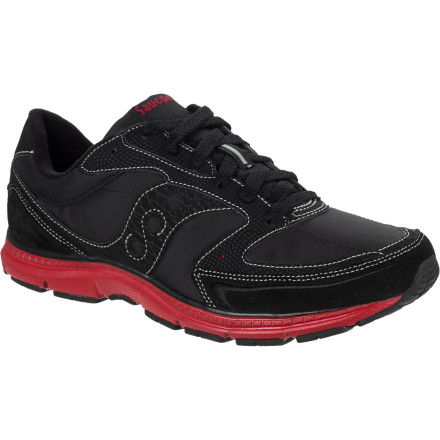 The track suit is optional, but the Saucony Men's Mod O Shoe is absolutely essential if you want to throw off an old-school vibe. The design may be classic, but there's plenty of new-fangled features in this trainer so you can parade up and down the street all day in comfort. - $32.48