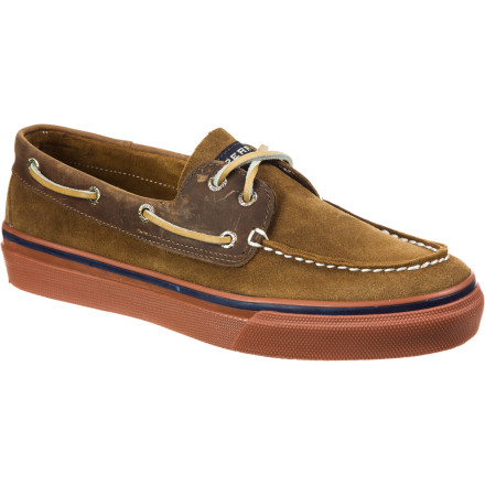 Whether you're strolling the boardwalk in Venice or working knots to secure your boat to the dock, the Sperry Top-Sider Bahama 2-Eye Suede/Leather Shoes keep your feet looking good and your footing stable. Authentic, quality construction ensures that these shoes will be able to keep with you wherever you go. - $48.97